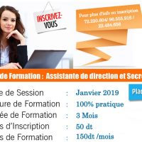 formation janvier 2019 * assistante de direction *